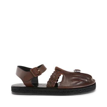 LOEWE Sandal Toes Dark Brown front