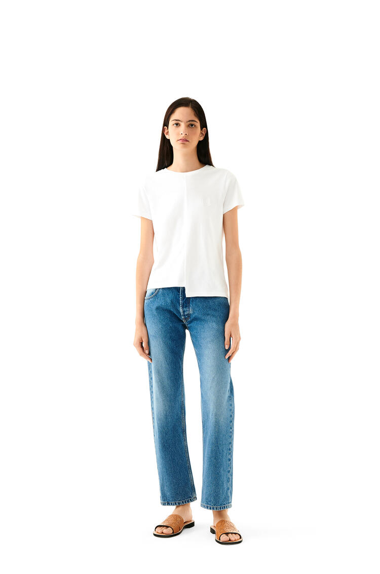LOEWE Tapered Jeans In Flower Embroidery Cotton Washed Denim pdp_rd