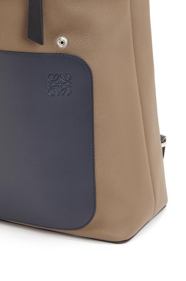 LOEWE Goya Backpack In Soft Grained Calfskin Deep Blue/Dark Taupe pdp_rd