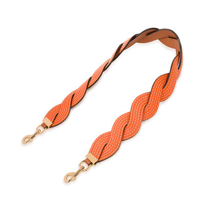 LOEWE Wavy Stitches Strap Orange front