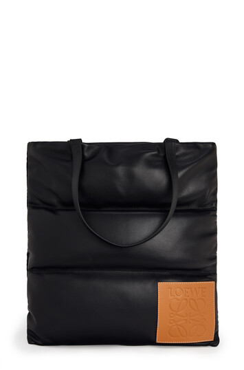 LOEWE Vertical Tote Puffy Bag Black front