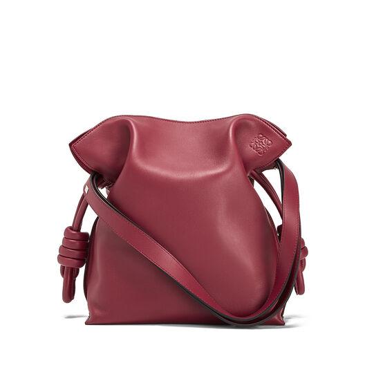 LOEWE Flamenco Knot Bag Raspberry front
