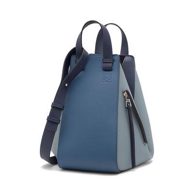LOEWE Hammock Medium Bag Varsity Blue Multitone front