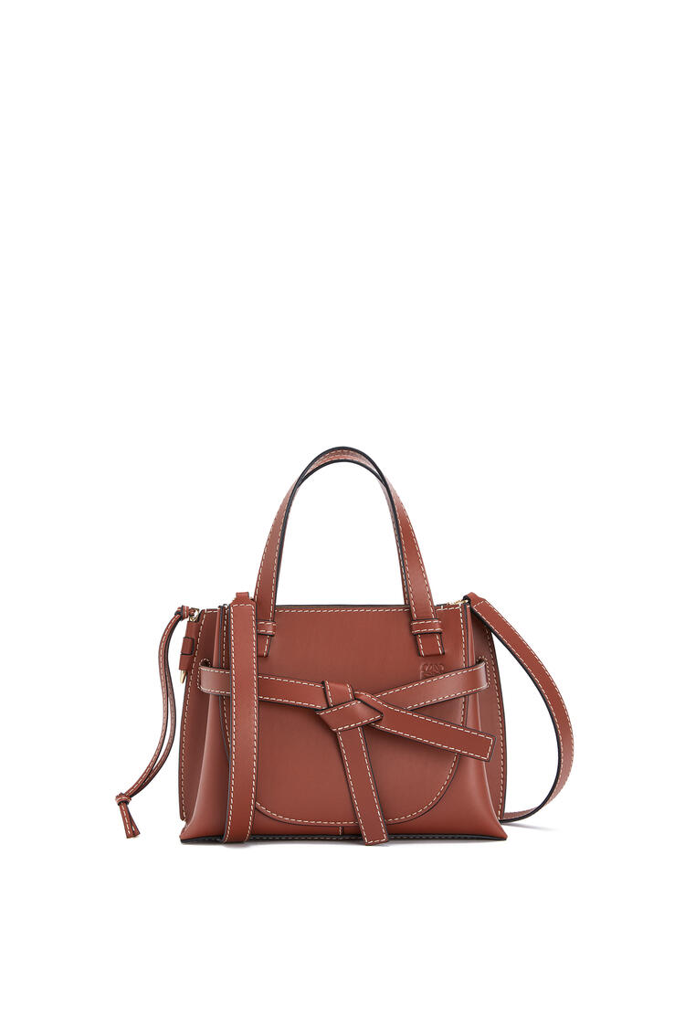 LOEWE Mini Gate Top Handle bag in natural calfskin Rust Color pdp_rd