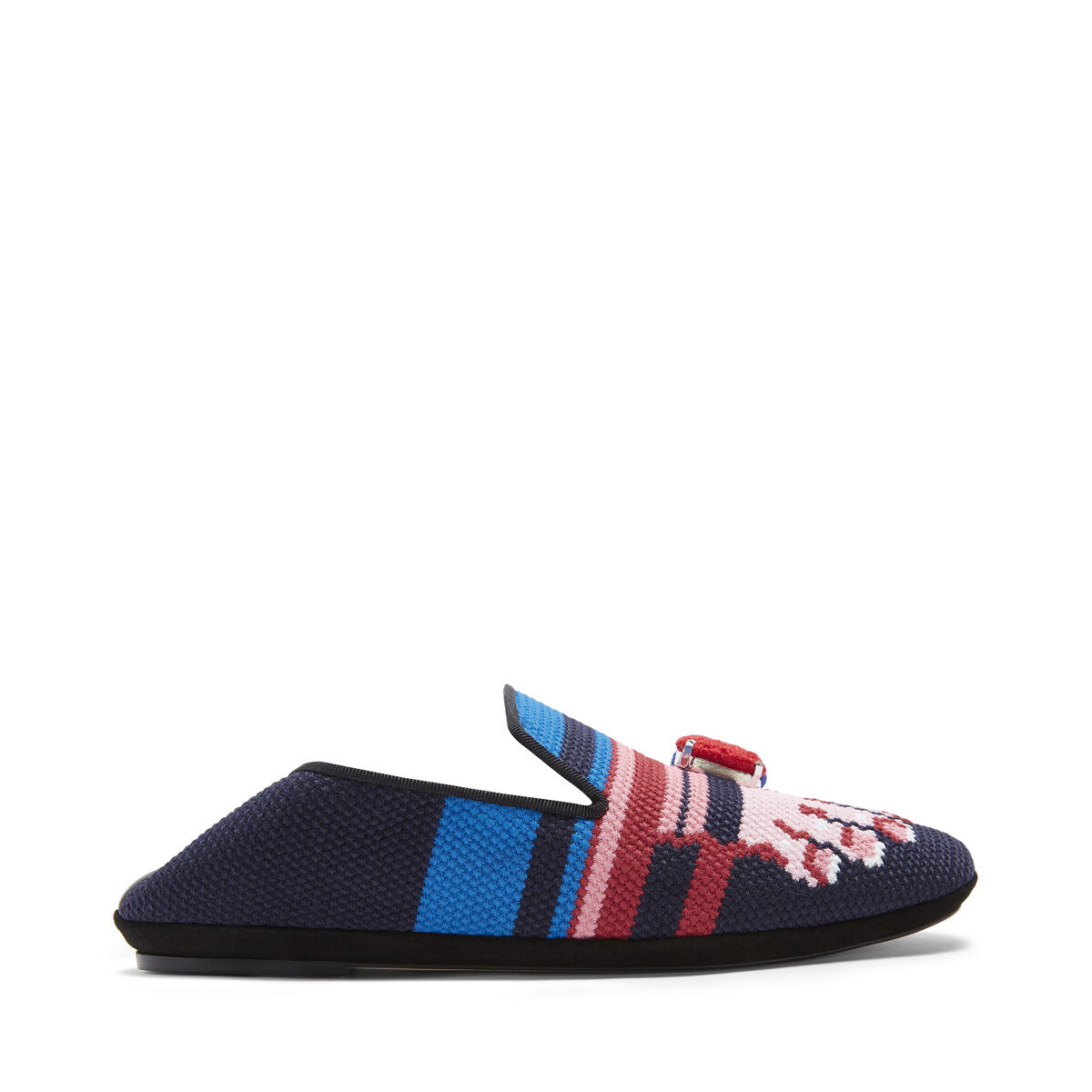 LOEWE Embroidered Slipper Toes Pink/Navy Blue all