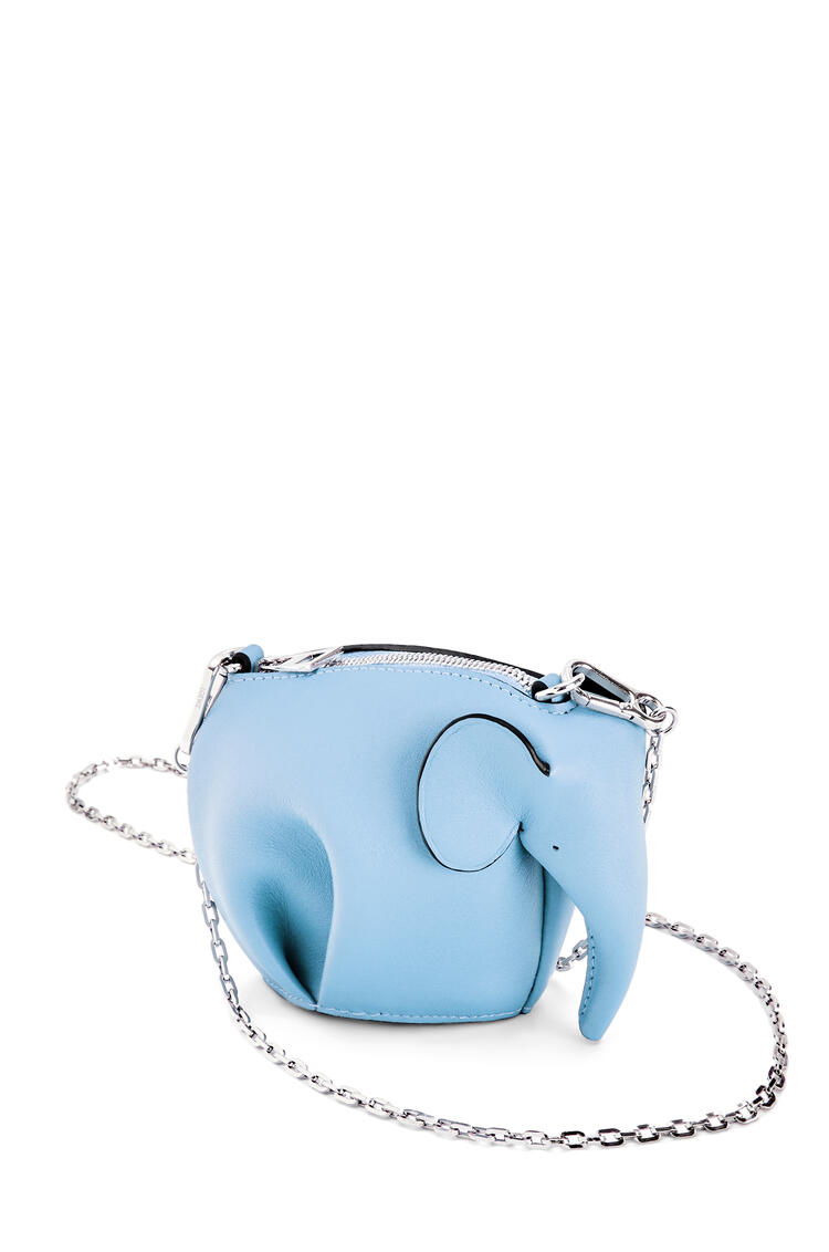 LOEWE Elephant Pouch in classic calfskin Light Blue pdp_rd