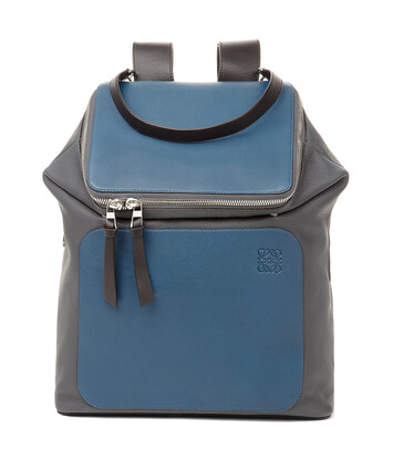 LOEWE Goya Backpack Indigo/Steel Grey front