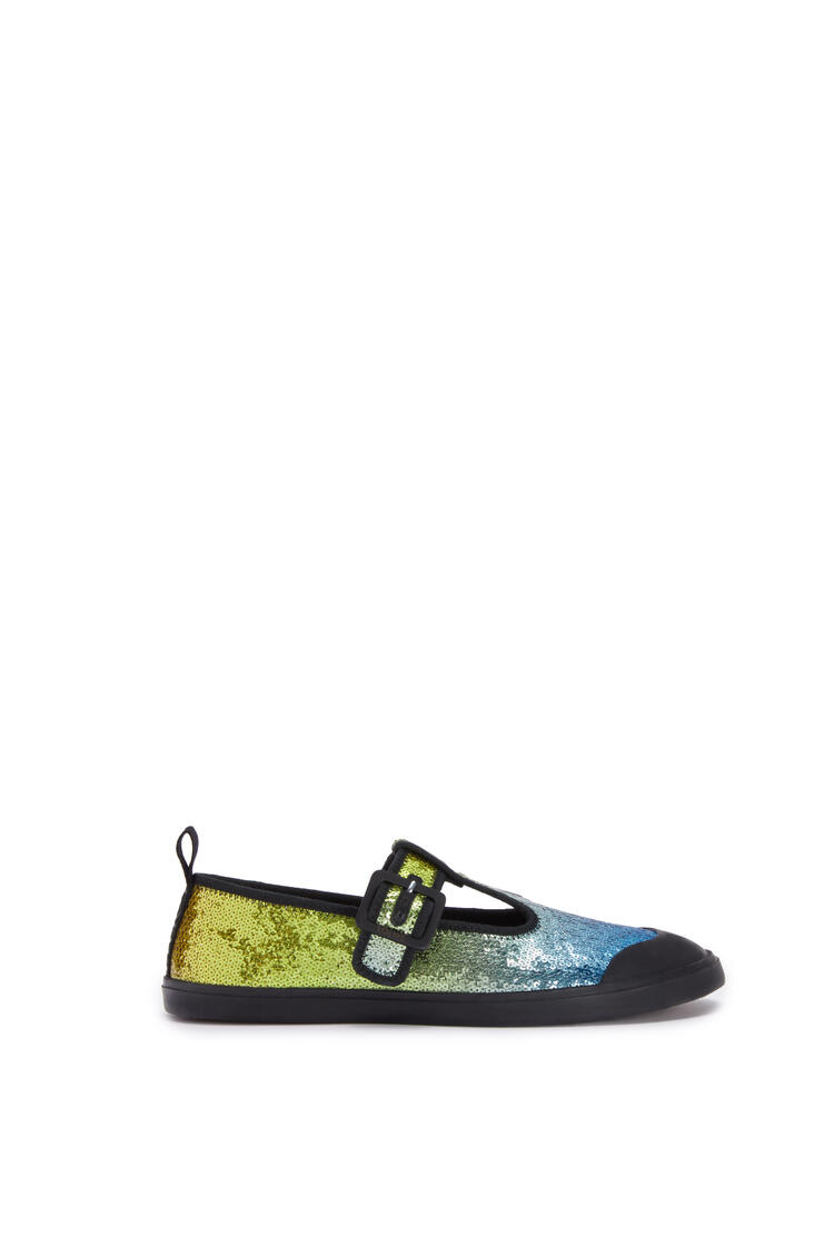 LOEWE Sequins babies in calf and polyester blue/multicolour pdp_rd