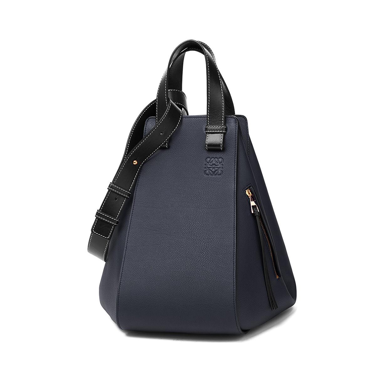 LOEWE Hammock Medium Bag Midnight Blue/Black front