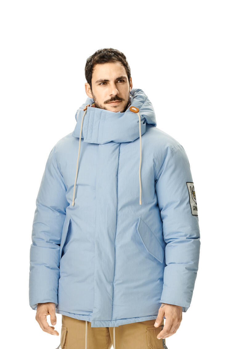 LOEWE Puff parka in cotton Baby Blue pdp_rd