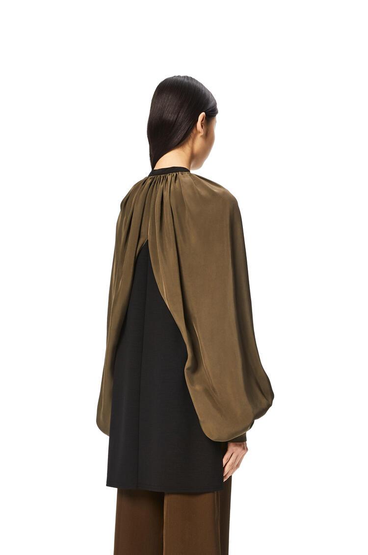 LOEWE Cape sleeve blouse Black/Khaki Green pdp_rd