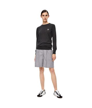 LOEWE Stripe Shorts Grey front
