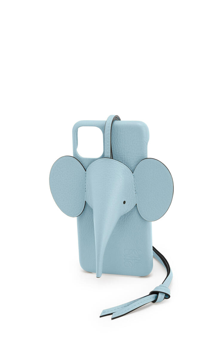 LOEWE Elephant cover for iPhone 11 Pro Max in pearlized calfskin ライトブルー pdp_rd