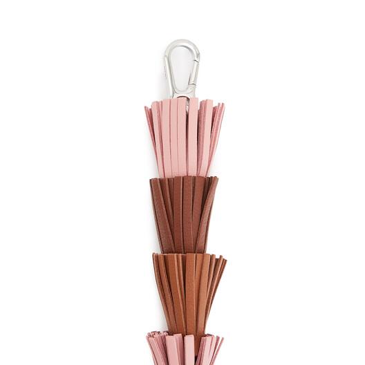 LOEWE Tassel Strap Medium Pink/Cognac front