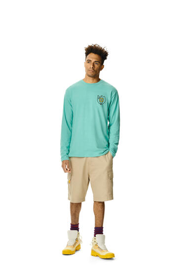 LOEWE Long sleeve t-shirt in cotton Mint Green pdp_rd