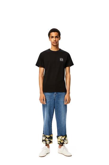 LOEWE Camiseta Anagramaen Algodón Negro pdp_rd