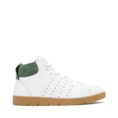 LOEWE High Top Sneaker White/Green front