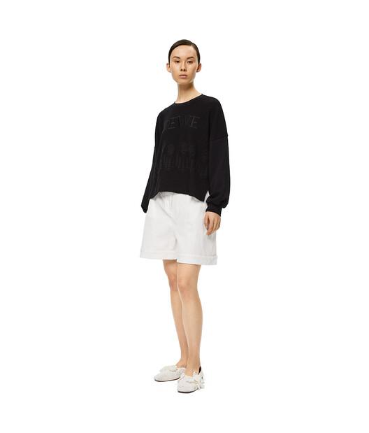 LOEWE Embroidered Sweatshirt Black front