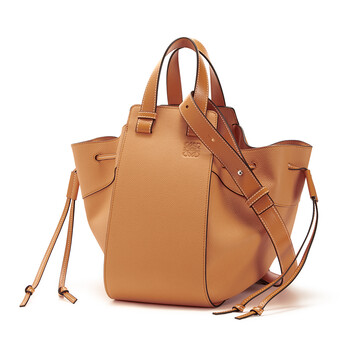 LOEWE Hammock Drawstring Medium Bag Light Caramel front