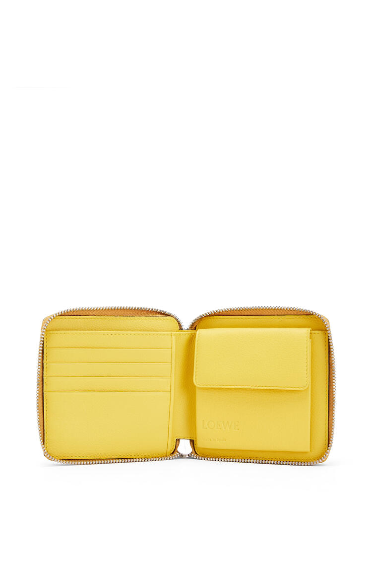 LOEWE Puzzle square zip wallet in classic calfskin Ochre/Yellow pdp_rd