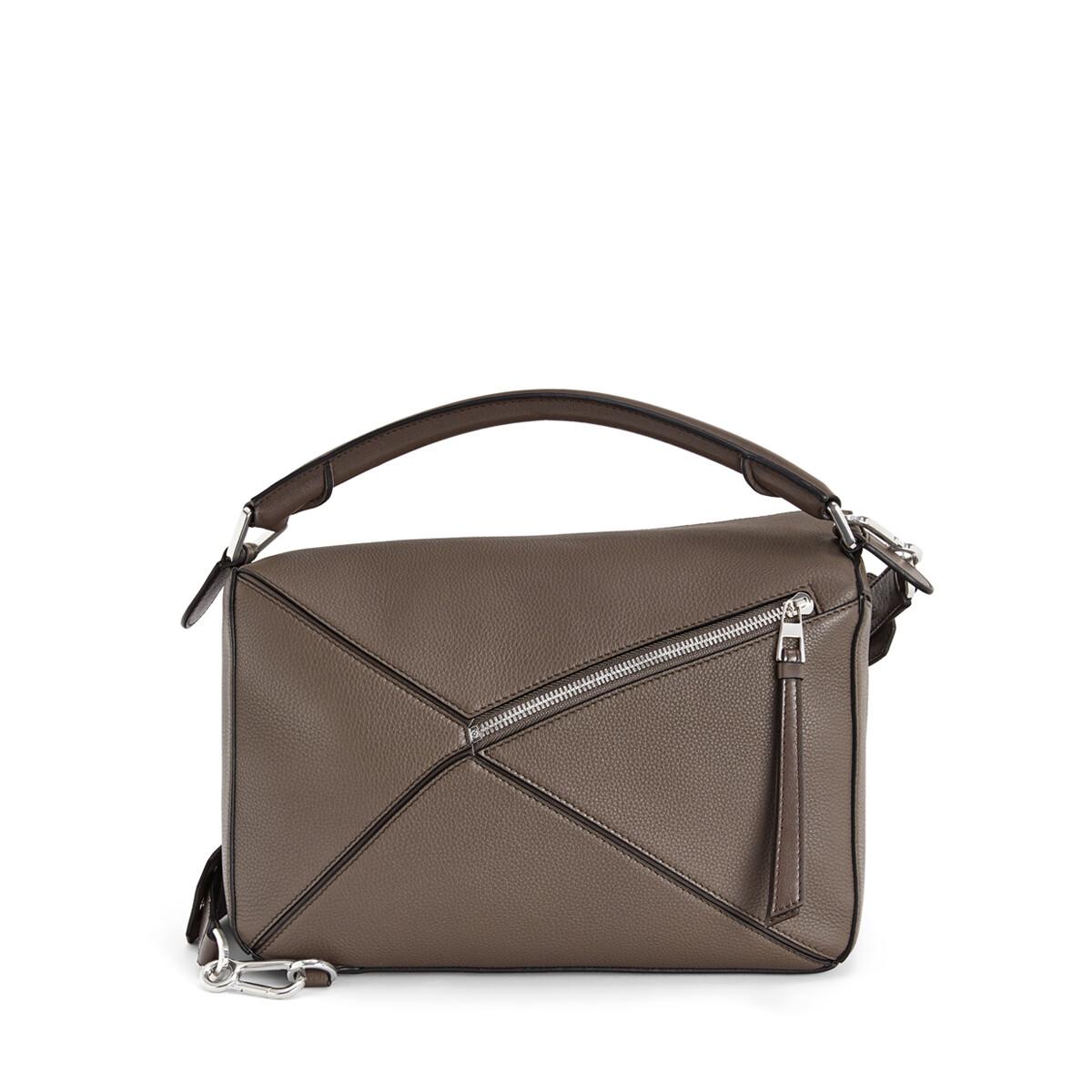 LOEWE Puzzle Bag Dark Taupe front