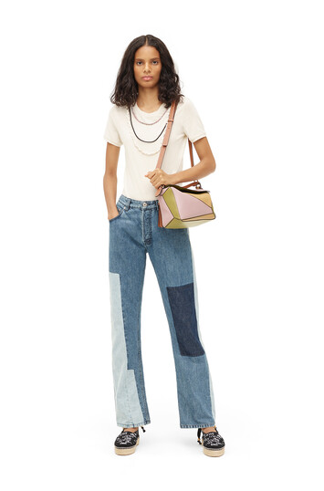 LOEWE Paula Patchwork 5 Pocket Jeans Azul Indigo front