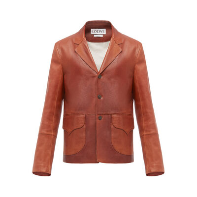 LOEWE Flap Pocket Jacket Coñac front