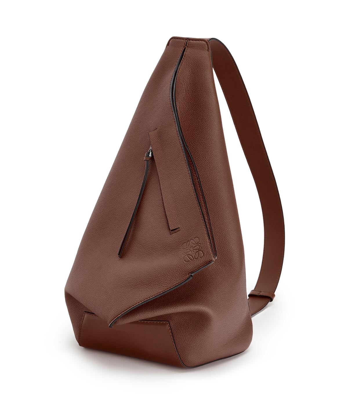 LOEWE Anton Small Backpack Cognac front