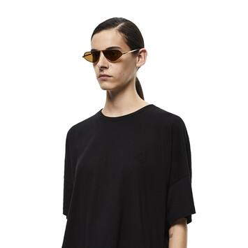 LOEWE Leather Geometric Sunglasses Hazelnut front