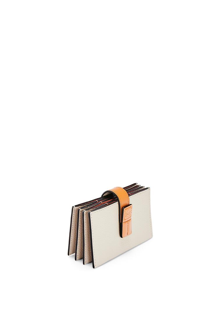 LOEWE アコーディオン コイン カードホルダー (ソフトグレインカーフ) ライトオーツ/ハニー pdp_rd