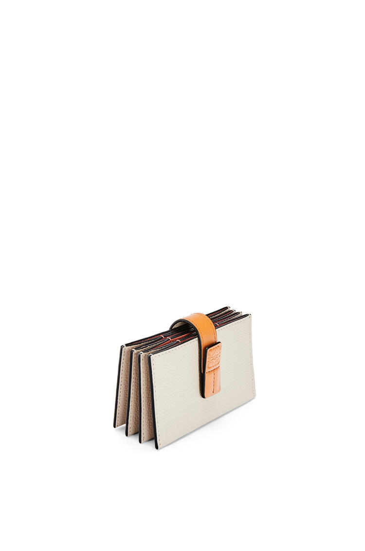 LOEWE Accordion cardholder in soft grained calfskin Light Oat/Honey pdp_rd
