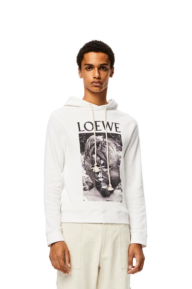 LOEWE Sudadera con capucha en algodón de El señor de las moscas Blanco pdp_rd