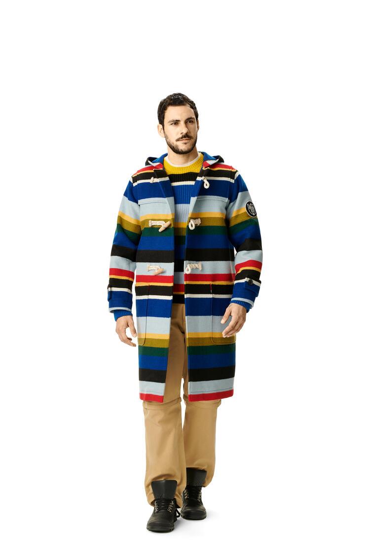 LOEWE Duffle coat in striped wool Multicolor pdp_rd