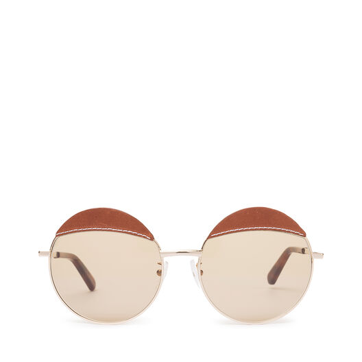 LOEWE Round Sticth Sunglasses Brown/Light Brown front