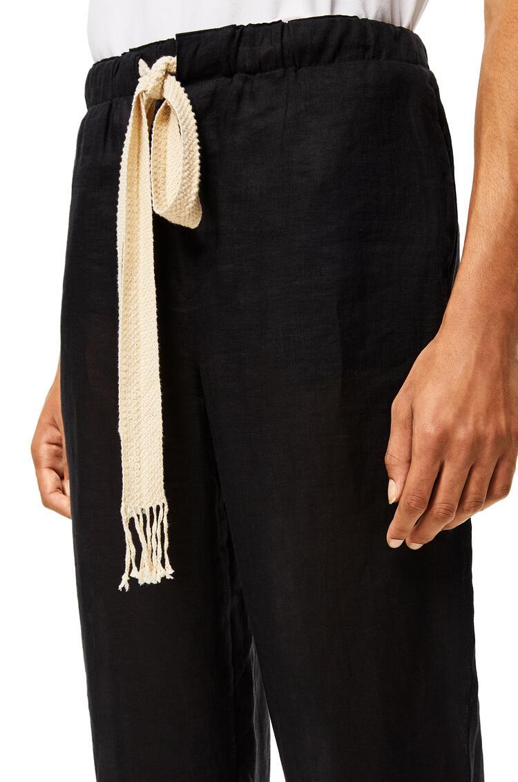 LOEWE Trousers in linen Black pdp_rd