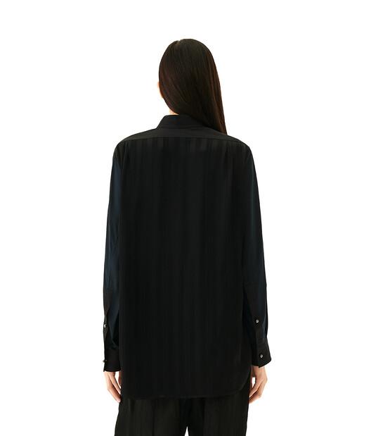 LOEWE Asymmetric Shirt Pearls Negro front
