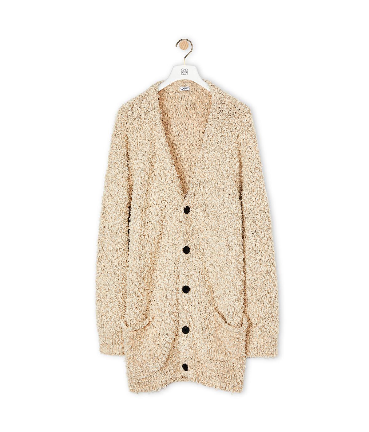 LOEWE Knit Oversize Cardigan Beige front