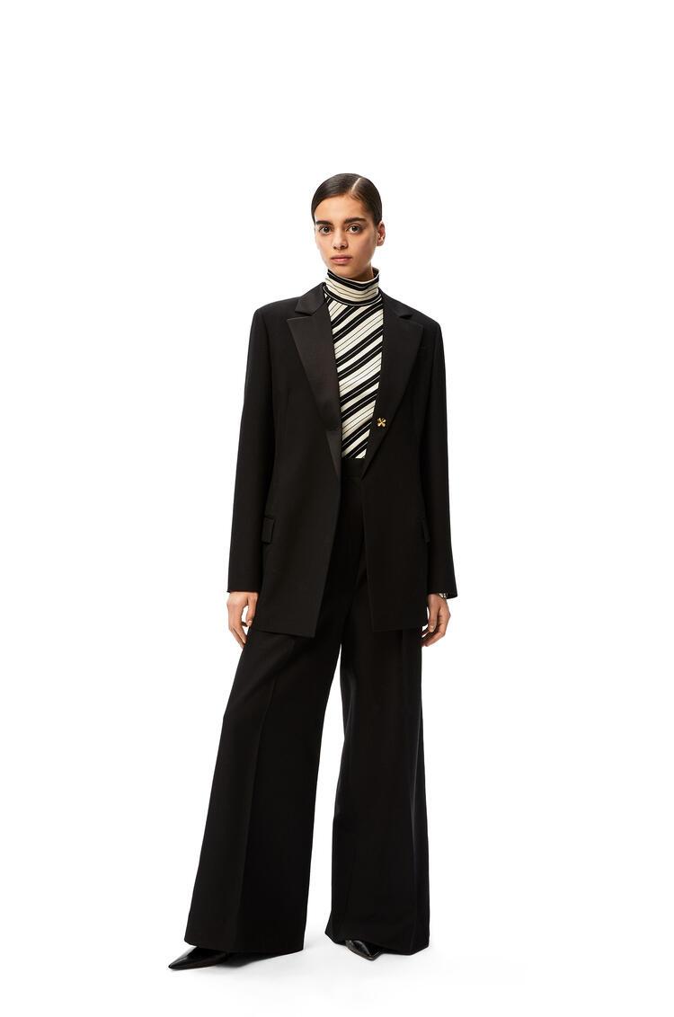 LOEWE Tuxedo jacket shamrock button in wool Black pdp_rd