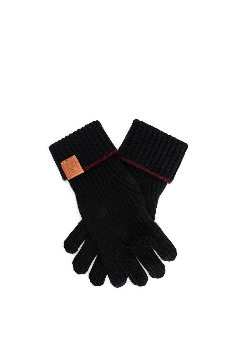 LOEWE Guantes de punto en lana Negro pdp_rd