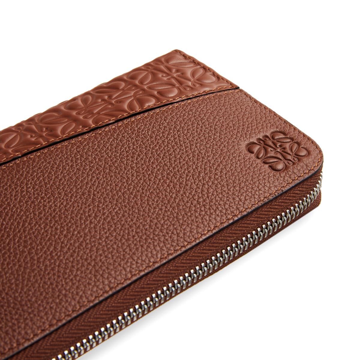 LOEWE Puzzle Open Wallet Cognac front