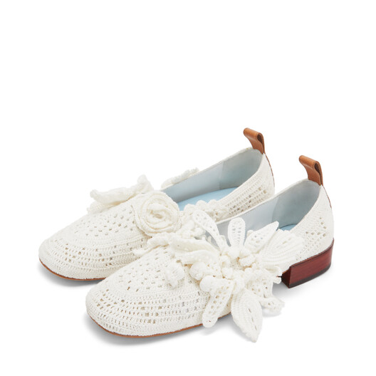 LOEWE Knit Ballerina 25 Soft White front