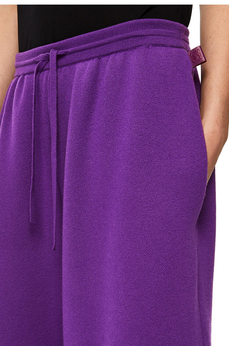 LOEWE Knit track shorts in cashmere Violet pdp_rd
