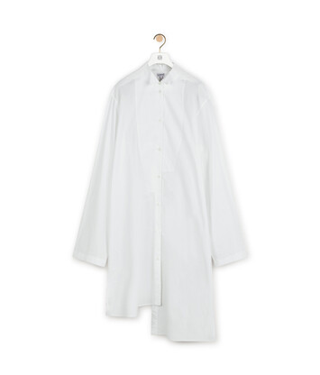 LOEWE Ov Asymmetric Shirtdress Blanco front