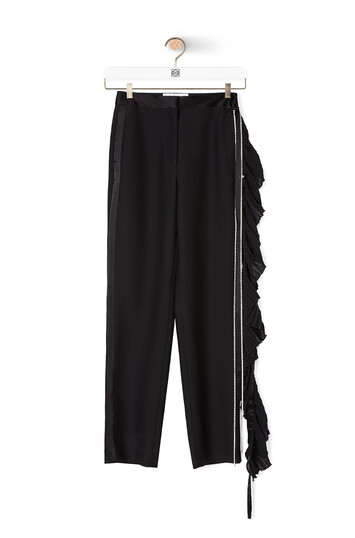 LOEWE Crystal Side Strap Trousers Black front