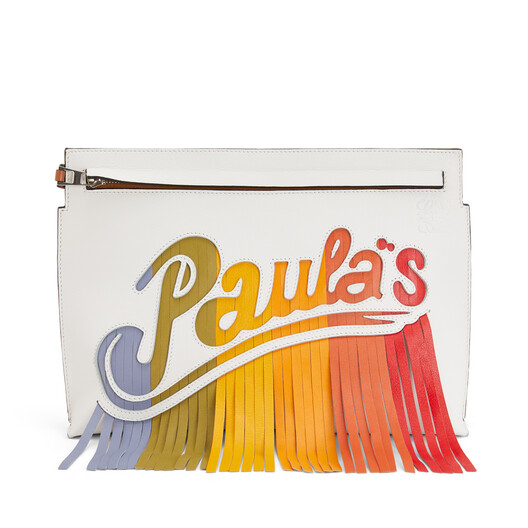LOEWE Paula's T Pouch Bag White/Multicolor front