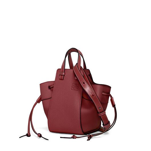 LOEWE Hammock Drawstring Mini Bag Raspberry front
