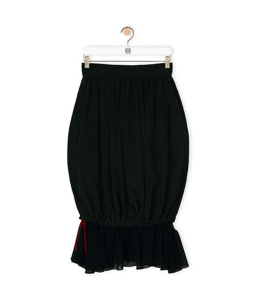 LOEWE Short Assymetric Ruffle Skirt Negro front