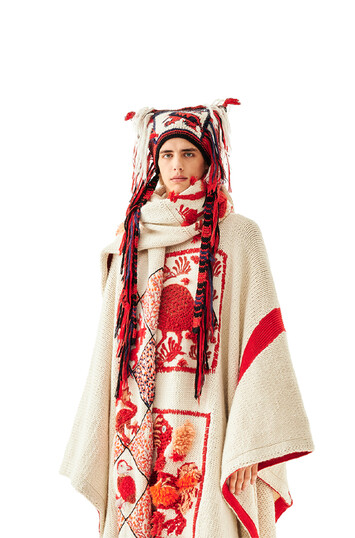 LOEWE Dragon Knit Beanie 红色 front