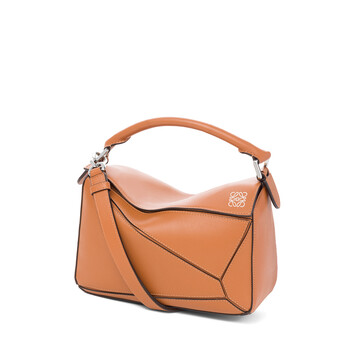 LOEWE Puzzle Small Bag 棕色 front