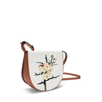 LOEWE Mini Bolso Heel Botanical Blanco Suave/Bronceado front